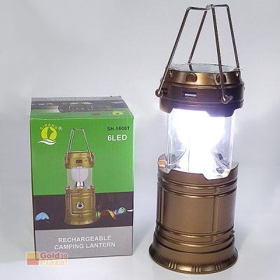 Соларна фенер, къмпинг LED лампа с вграден акумулатор 5800