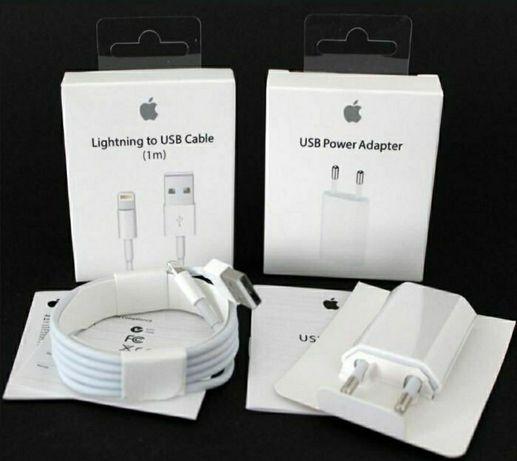 провод, кабель зарядка и кубик оригинал iPhone