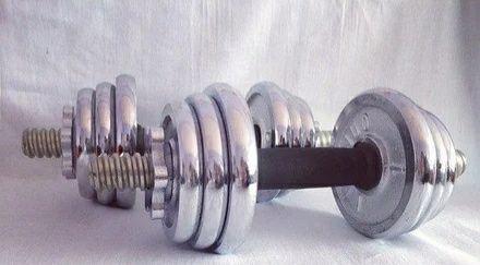 Гантели новые 5кг общий вес 10 кг