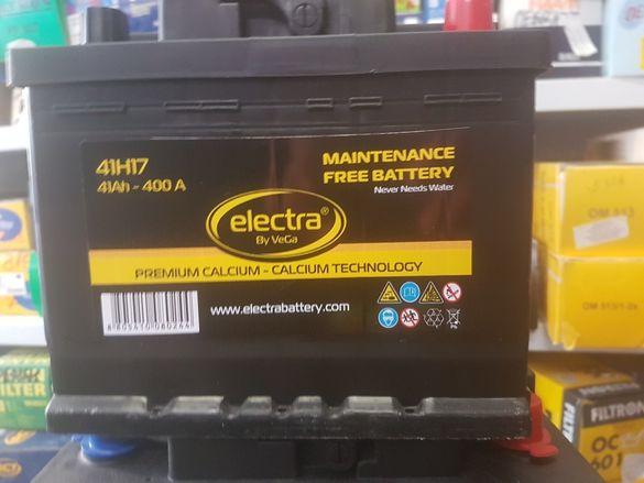 Гаранция ! Нов акумулатор Electra 41ah,56ah,60ah,72ah и други!
