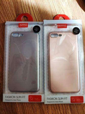 Husa silicon Xoomz Apple iPhone 7 Plus argintiu sau roz