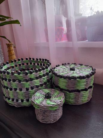 Плетеные шкатулки подарочные набор