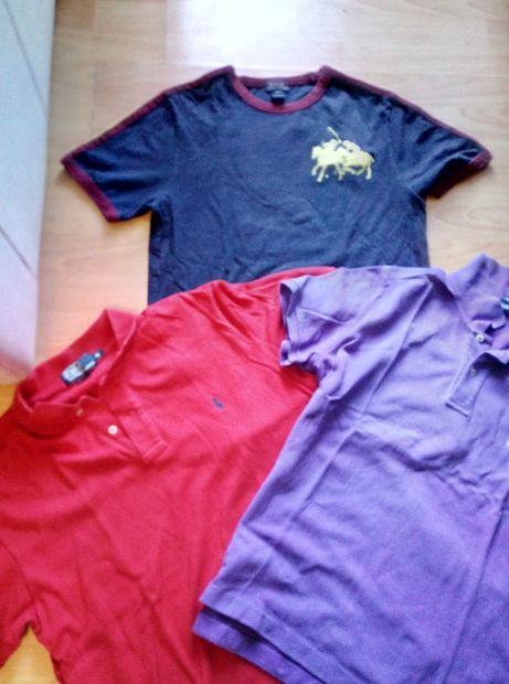 Tricouri din bumbac Ralph Lauren ,Versace, Bayern,Reebok,2 buc 140 lei