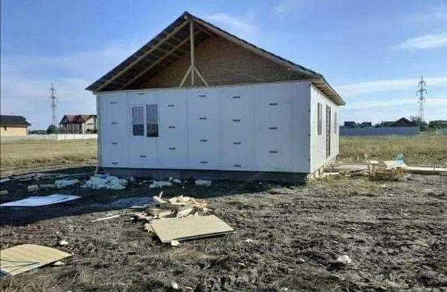 Vând și construiesc case locuibile pe structura metalica și panou send