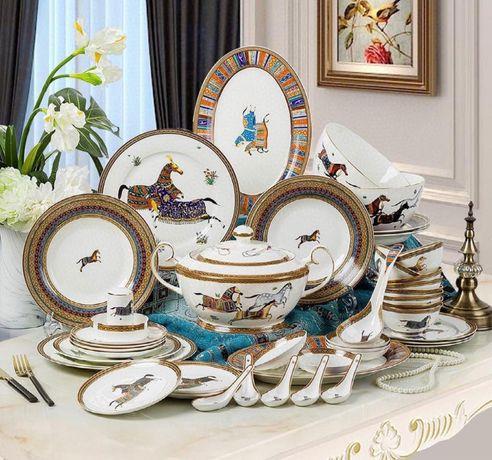 """Брендовый комплект посуды """"Hermes"""""""