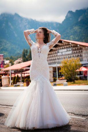 Rochie de mireasa tip sirenă (Oksana Mukha)