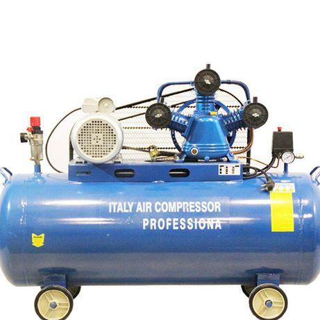 Компресор за въздух 100 литра с /ТРИ ГЛАВИ/ - усилен дебит