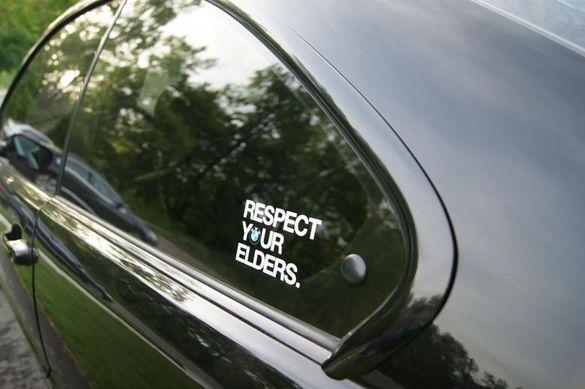 Respect your elders bmw стикер бмв е36 е46 е60 е61