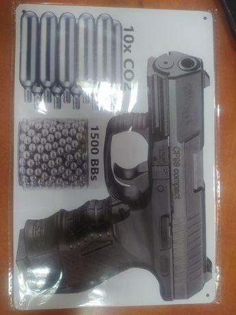 Walther CP99 Compact Въздушен пистолет стенен знак подходящ за магазин