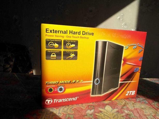 Внешний накопитель USB Transcend 2.0 TB, новый