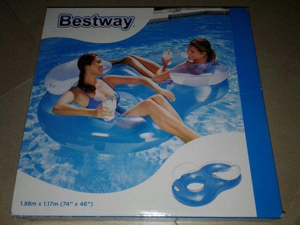 Fotolii plutitoare/ colac dublu, nou,Bestway,, 2x80kg, >14y, 188x117cm