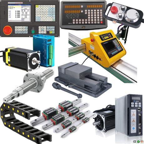 Componente CNC, ghidaje liniare, profile aluminiu, motoare pas cu pas