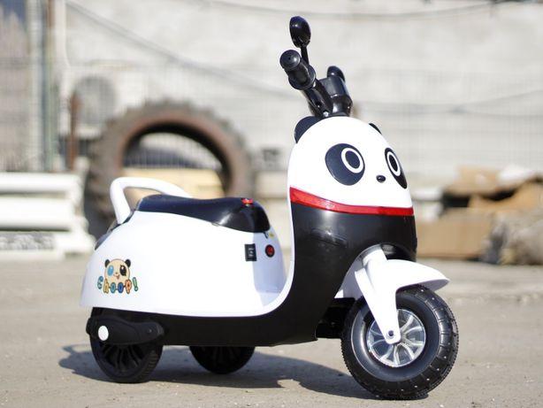 Tricicleta electric pentru copii PANDA 20W 6V, cu efecte sonore #ALB