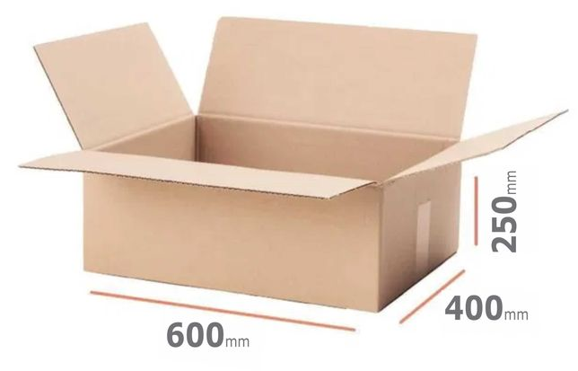 Cutii carton 5 strat, natur, 600x400x250 mm, f rezistenta, Europalet
