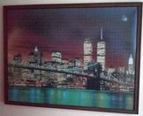 Пъзел в рамка НЮ ЙОРК моста БРУКЛИН през нощта