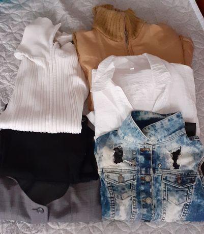 Дамски дрехи жилетки, риза,елече, панталон