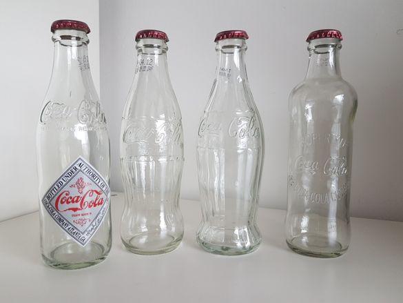 Колекция 4 ретро бутилки на Кока-Кола