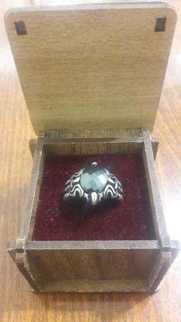 Серебряное украшение.  Можно в подарок. Кольцо мужское.