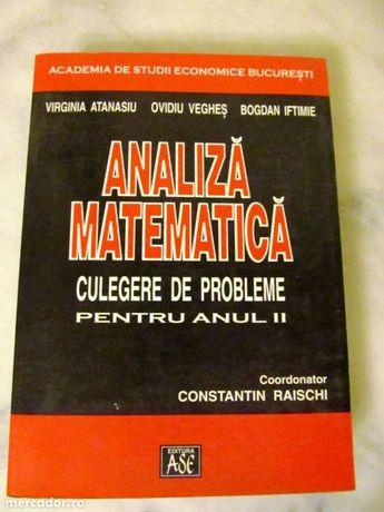 Analiza Matematica Culegere de probleme pentru anul  II