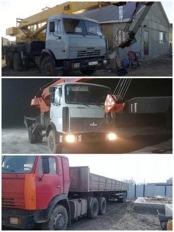 АвтоКран 25 и 16 тонник и полуприцеп