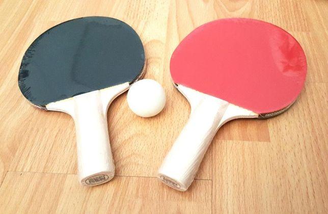 Set 2 palete tenis masă Artengo şi minge, noi, calitate