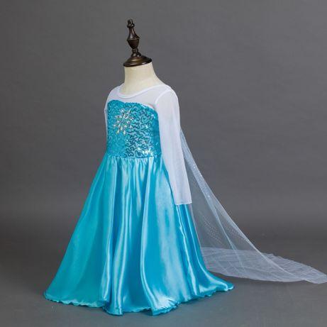 Rochie rochita Elsa Frozen NOUA 4,5,6,7,8,9 ani