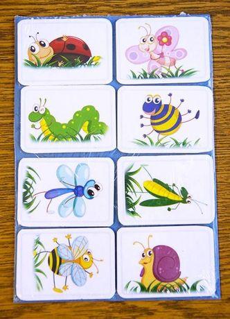 Vand set 8 bucati stickere magnetice Insecte Cartoon