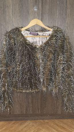 Ефектно палто от еко косъм