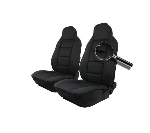 Авто Тапицерия Калъфи за Предни Седалки Черна Лукс Текстил Нов Модел