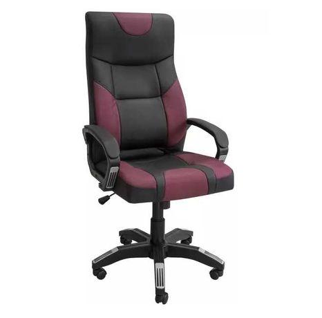Игровое кресло ZETA Радмир черно-бордовый