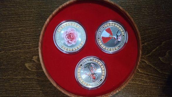 3 Сребърни Монети специално издание - Български символи