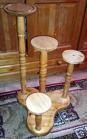 Многофункционална дървена мебел-Цветарник.