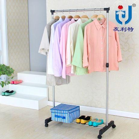 Вешалка напольная гардеробная все виды Одинарная для одежды