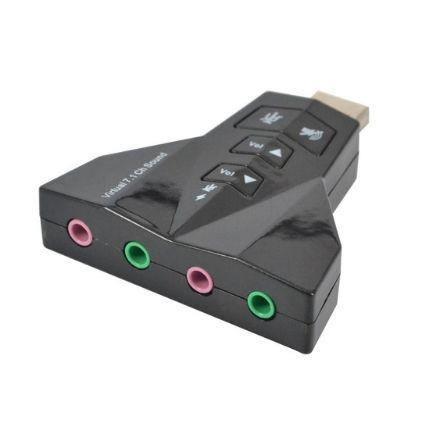 Външна USB звукова карта двойна