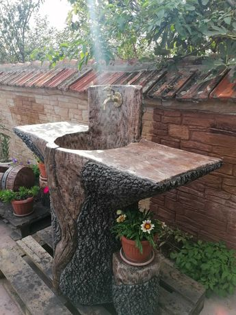 Чешма мивка кашпи от бетон