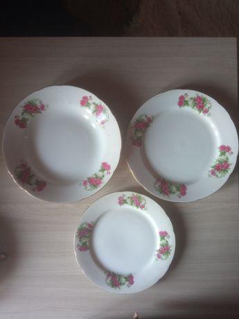 Фарфоровые японские тарелки и супница фарфор по 6 шт