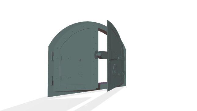 Ușă fier cuptor afumatoare șemineu
