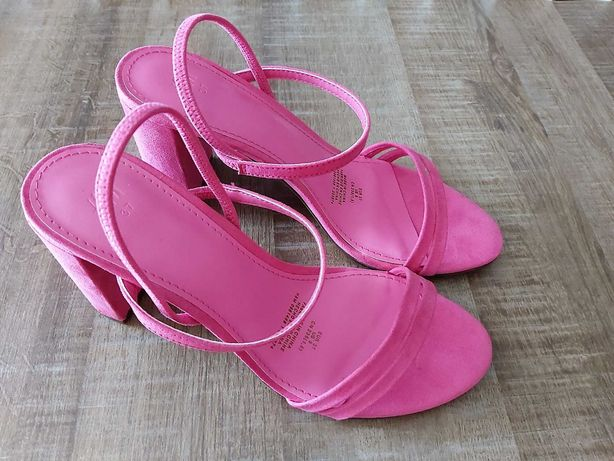 Sandale cu toc H&M, roz, marimea 37