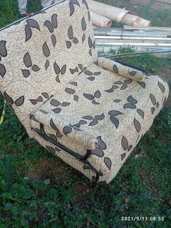 Диван, 2 кресла, кровать (1.5) с матрацом