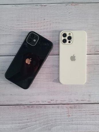 Стеклянный чехлы iPhone Айфон 11/12/12 про/12 про макс чехол pro max