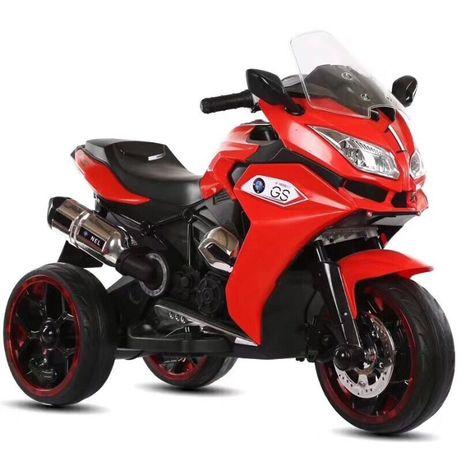 Motocicleta electrica pentru copii BJ1200 2x30W STANDARD #Rosu