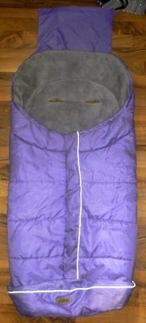 Saculet de dormit pentru carucior FILLIKID 100 cm mov gros transp incl