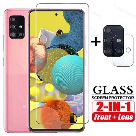 Samsung A51 A71 A21S - Pachet Folie Sticla Curbata 11D + Folie Camera
