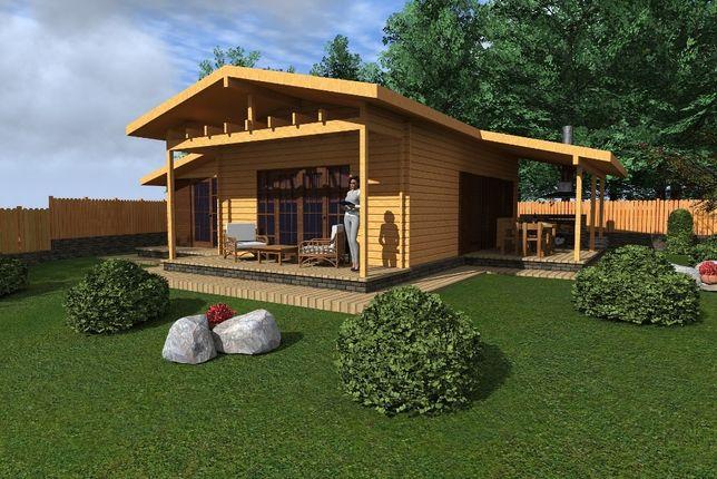 Casa din lemn - Case de lemn Prefabricate la Comanda