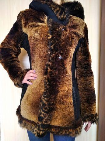 Женская куртка -дублёнка из натурального меха, размер 42-44, натуралка