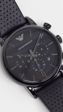 Мъжки часовник Emporio Armani.Каишка естествена кожа.Хронографен.Арман