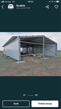 Hale metalice 24x50 din profil ipe 270 ferme si stalpii