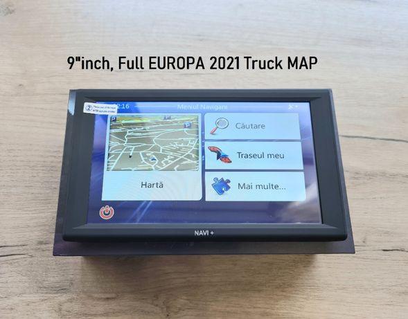 "NAVIGATII GPS 9 ""HD,16GB, Special Camion - TRUCK FULL EU Tir, Nou"