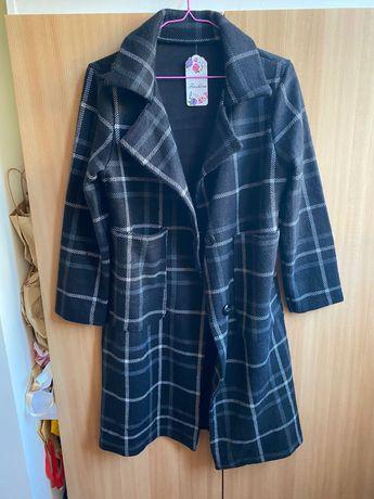 Дамско атрактивно палто черно