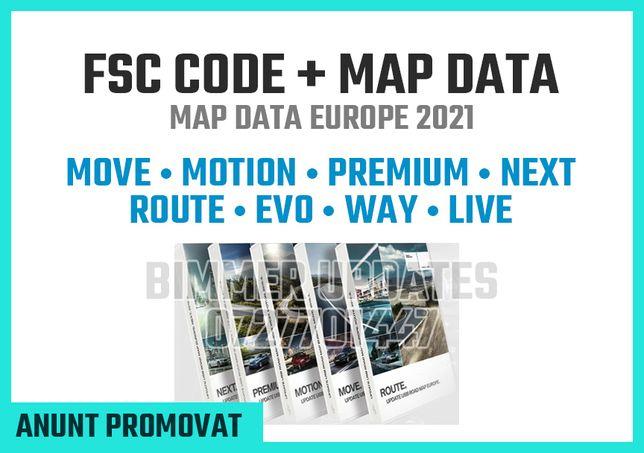 BMW Harti Navigatie 2021 Cod FSC Move Motion Premium Next Evo Route